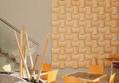 Revestimiento Wovin Wall laminado en madera.