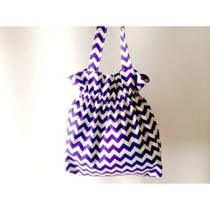 Chevron Tote Bag, Purple Tote Bag, Purple Beach Bag, Purple Chevron... ($15) ❤ liked on Polyvore featuring bags, handbags and tote bags