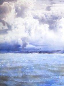"""Неспешные всплески волн""   ""The unhurried splashes of waves"""