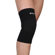 Elastic Sports Leg Knee Support Brace Wrap Protector Knee Pads Sleeve Cap Patella Guard Volleyball Knee - Black - 1PCS