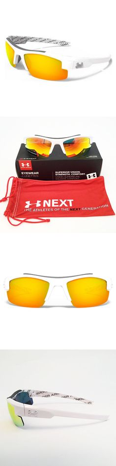 Sunglasses 131411: Under Armour *Youth Nitro L Sunglasses Shiny White Frame Orange Multi Lens 18277 -> BUY IT NOW ONLY: $44.95 on eBay!