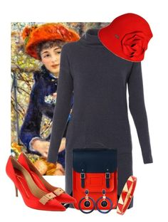 """""""Impressionists 4/5: Pierre-Auguste Renoir"""" by tlb0318 ❤ liked on Polyvore featuring Peserico, Betmar, The Cambridge Satchel Company, Giuseppe Zanotti, Chico's and Tory Burch"""