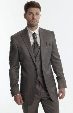 Daniel Choco Mens Fashion Suits, Mens Suits, Groom Suits, Groom Suit Vintage, Tuxedo Suit, Wedding Costumes, Suit Vest, Suit And Tie, Big Fashion
