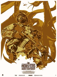 """Monsters - Dark Continent - The Dark Inker ---- Poster Posse Project #16 Explores War With An Alien Presence In: """"Monsters: Dark Continent"""" Phase 1 (2015-04)"""