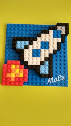 Art with Legos Hama Beads Minecraft, Perler Beads, Lego Projects, Craft Projects For Kids, Mosaico Lego, Steam Art, Lego Wall, Lego Challenge, Lego Club