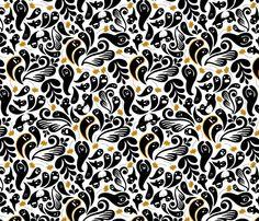 retro paisley pattern fabric, wallpaper & gift wrap - Spoonflower