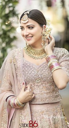 Pakistani Girl, Pakistani Wedding Dresses, Pakistani Actress, Pakistani Outfits, Pakistani Clothing, Pakistani Dramas, Ethnic Outfits, Bridal Hair And Makeup, Bride Look