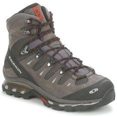 Senderismo Salomon QUEST 4D GTX® Negro / Gris - Botas de senderismo para hombre. Men walking boots. bottes de randonnée pour homme. #botas #senderismo #hombre