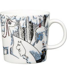 Snowhorse Moomin mug Winter 2016 from Arabia by Tove Jansson, Tove Slotte Moomin Shop, Moomin Mugs, Nordic Design, Scandinavian Design, Les Moomins, Moomin Valley, Tove Jansson, The Book, Original Artwork