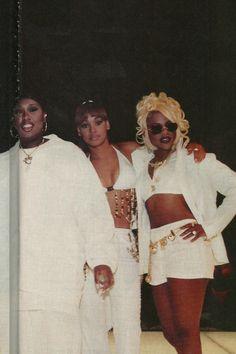 """Its Ladies Nighy""Missy Elliott, Lisa ""Left Eye"" Lopez, Lil Kim Soft Ghetto, Ghetto Fabulous, Black Girl Magic, Black Girls, Black Women, Hip Hop And R&b, 90s Hip Hop, 2000s Fashion, Hip Hop Fashion"