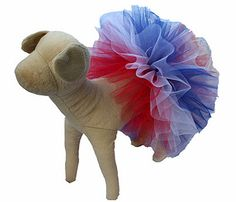 Patriotic Dog Tutu, Red, White & Blue for Pet Parades and July 4th Celebrations