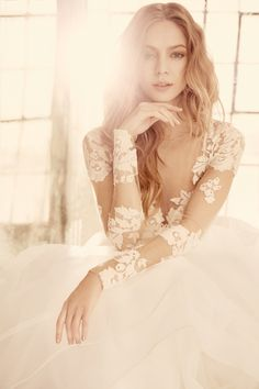 """""""Elysia"""" gown by Hayley Paige Bridal gown, wedding dress, couture"""