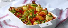 Halloumigratäng med grönsaker - Kockens