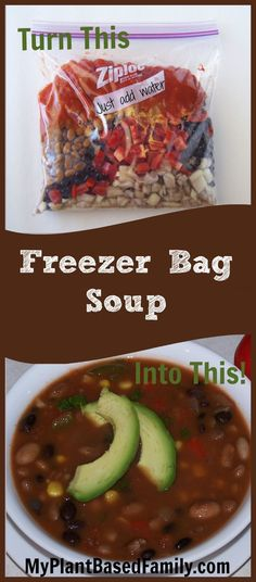 Save time and money by planning ahead! Freezer Bag Soup will allow you to have a delicious, homemade soup when time is short.