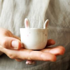 Egg cup with ears! ... Or shot drink glass not to drink alone! . . . #ceramic #eggcup #ceramiccup #animalshape #shortcoffee #handmadeceramics #makersmovement #madeinitaly #breakfast #shotdrink #ceramica #bunny #coniglio #tazzina #colazione#shottino #tramai #etsy #etsyfinds #etsyfavorites #etsyshop #etsyseller #etsygift #ceramicart