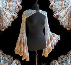 Bolero ivory lace, victorian, fantasy, burlesque, steampunk, Somnia Romantica by Marjolein Turin   ---- I don't know how I feel about all those frills but the lace neckline clasp is perfection
