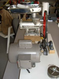 Homemade <b>Electric Meat</b> Grinder Conversion. Visit www ...