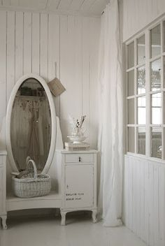 Mirror White Mirror Salon Idea Shabby Mirror Shabby Chic Mirror