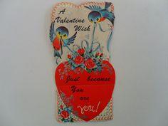 vintage Valentine card  vintage blue bird art by GTDesigns on Etsy, $3.00