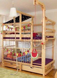 Kinder Etagenbett Jungenzimmer Gestalten Ausgefallenes Bett Grün | For  Myles | Pinterest | Kids Rooms, Kidsroom And Room