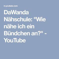 "DaWanda Nähschule: ""Wie nähe ich ein Bündchen an?"" - YouTube"