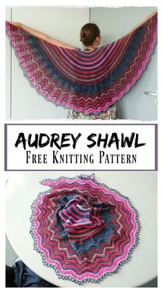 Audrey Lace Shawl Free Knitting Pattern #freeknittingpattern #shawl