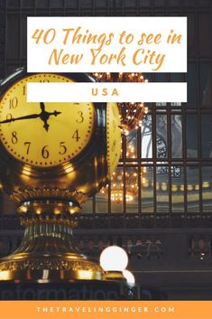 40 things to see and do in New York City. Your comprehensive guide to everything there is to see and do in New York City. This guide to New York City includes top tips of places to go, things to do and see. The top New York City travel guide. Pin this for tips for your itinerary to NYC. #nyc #newyorkcity #newyork #newyorkcitytravel