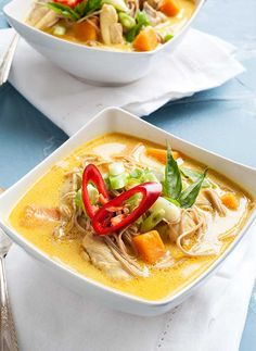 Gluten Free Curry Noodle Soup Recipe Image