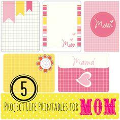 DIY – Project Life Printables For Mom | Vintage Scrap Shop