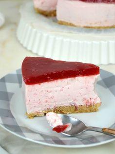 Tarta de yogur de fresa Kombucha, Cooking Recipes, Healthy Recipes, Flan, Southern Recipes, Desert Recipes, Sin Gluten, Cake Recipes, Cheesecake