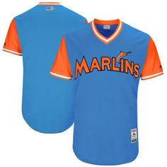 Men s Miami Marlins Majestic Royal 2017 Little League World Series Players  Weekend Stitched Nickname Team Jersey ba222fb22