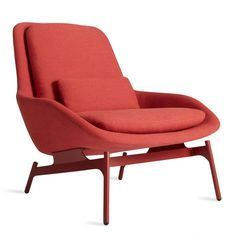 Field Red Modern Reading Chair
