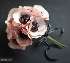 How to Make a Paper Anemone Flower | The Elli Blog