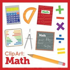Clip Art: Math Images, Basic Operations, Shapes, & Tools ...