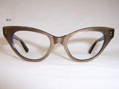 d3f44ba6b9 Classic 1950s Bronze Cat Eye Frame - Vintage Glasses - Dead Men s Spex Cat  Eye Frames