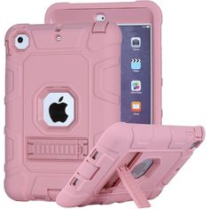 iPad Mini 2 Case, iPad Mini 3 Case, iPad Mini Case, Asstar [Kickstand Feature] Hybrid Hard PC Soft Silicone [Kids Friendly] Shockproof High Impact Combo Defender for iPad Mini (Rose Gold) Ipad Mini 3, Gps Navigation, Fujifilm Instax Mini, Rose Gold, Sports, Kids, Hs Sports, Young Children, Boys
