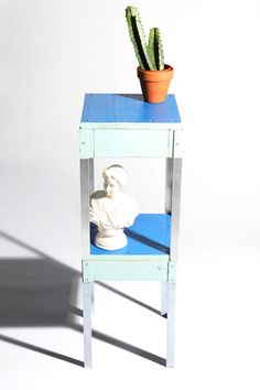 Brendan Timmins side table with bust neo neo classical
