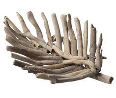 Roost Driftwood Leaf Sculpture