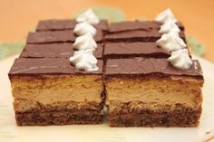 Czech Recipes, Ethnic Recipes, Chocolate Heaven, Cake Bars, Tiramisu, Sweet Tooth, Food And Drink, Cooking Recipes, Sweets