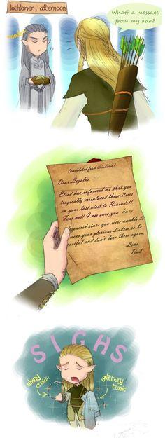 dont lose them again by ~greenapplefreak on deviantART. Omg poor Legolas, lol! xD