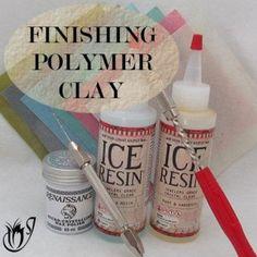 Finishing polymer clay