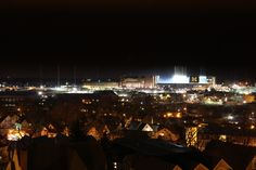 Big House lit up during the Night Game - SO cool.