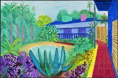 David Hockney Exhibition at Centre Pompidou Paris – David Hockney Garden, 2015
