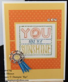 Stampin' Up! You are my Sunshine single stamp created by Stamping Imperfection.