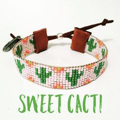 Southwestern Cactus Handmade miyuki delica beaded bracelet
