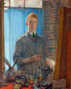 The Painting Student - 1920 by David Macbeth Sutherland -  Aberdeen Art Gallery & Museums