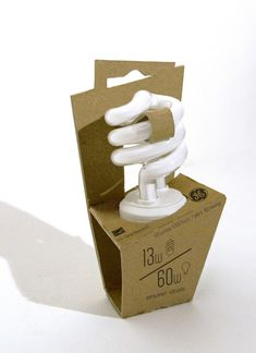 Very much in favor of this #sustainable lightbulb #packaging design.