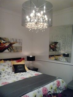 Our Oxide mirror in a bedroom setting