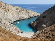**Seitan Limania Beach (hike to a secluded beach) - Akrotiri, Greece