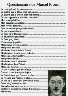 Pin by Isabelle Raviat on pédagogie Marcel Proust, Proust Questionnaire, Einstein, French Classroom, Teaching French, Learn French, Some Words, Positive Attitude, Meditation